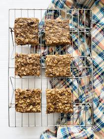 healthy peanut butter banana bars