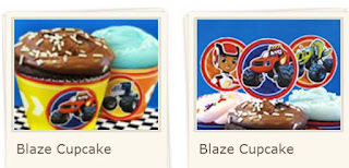 Blaze: Free Printable Cupcake Wrappers and Toppers.