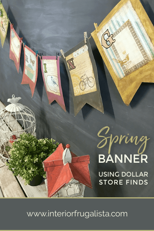 Easy Dollar Store Find Spring Banner