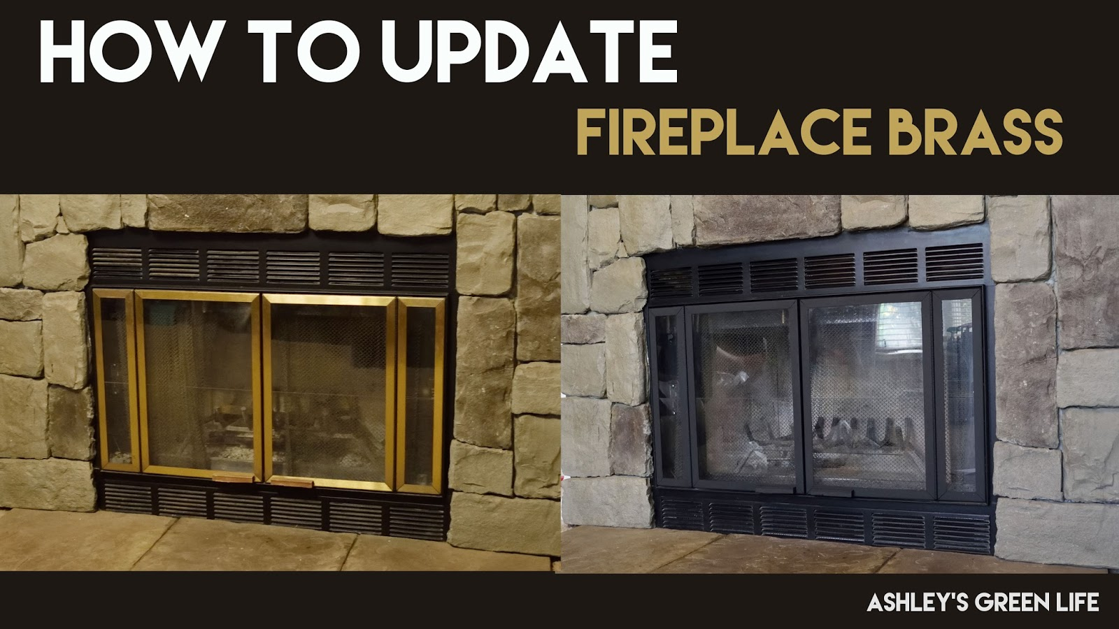 Ashley's Green Life: How to Update Fireplace Brass