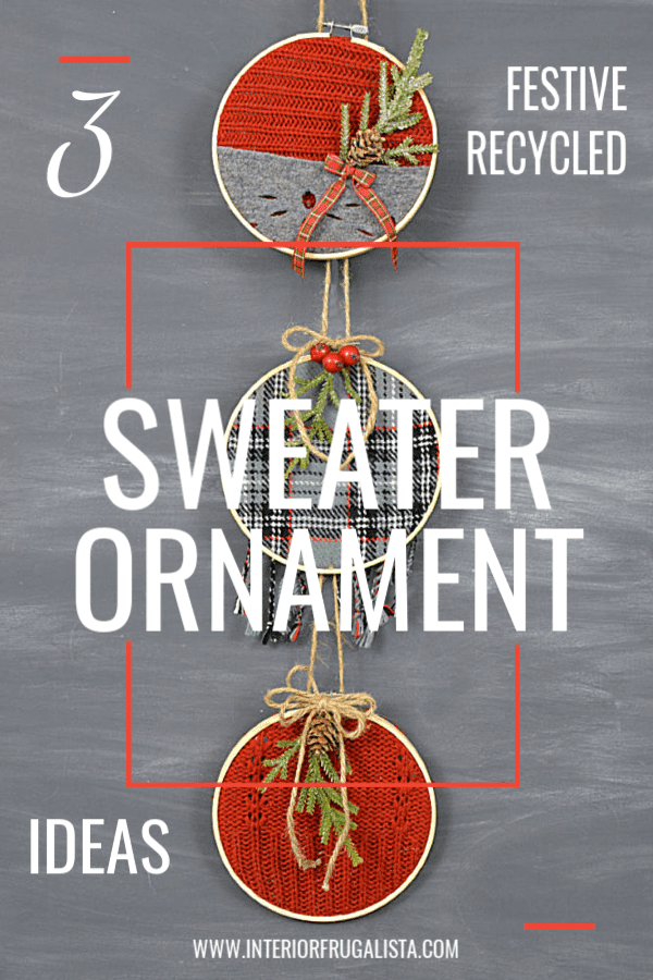 Three Recycled Sweater Ornament Ideas
