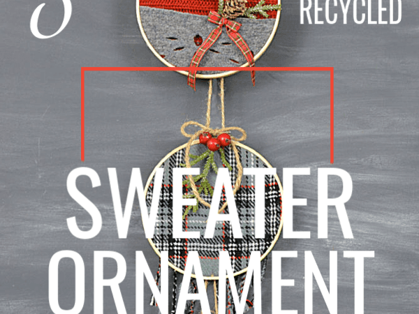 3 Unique Recycled Sweater Ornaments