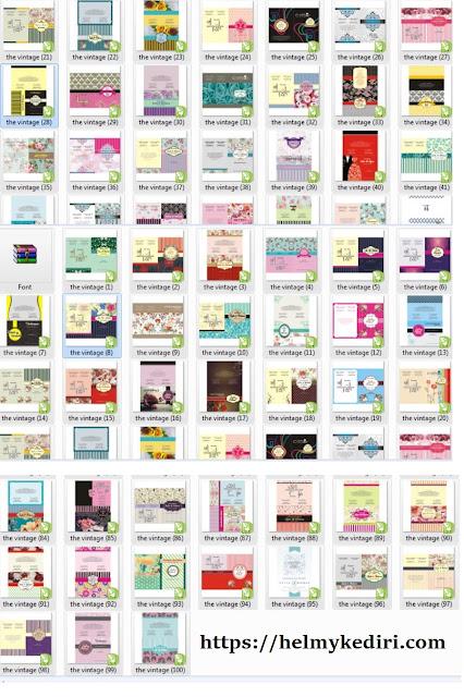 Download 100 desain template undangan pernikahan
