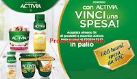 Logo Concorso ''Con Activia vinci la spesa'': in palio 600 buoni spesa da 40€