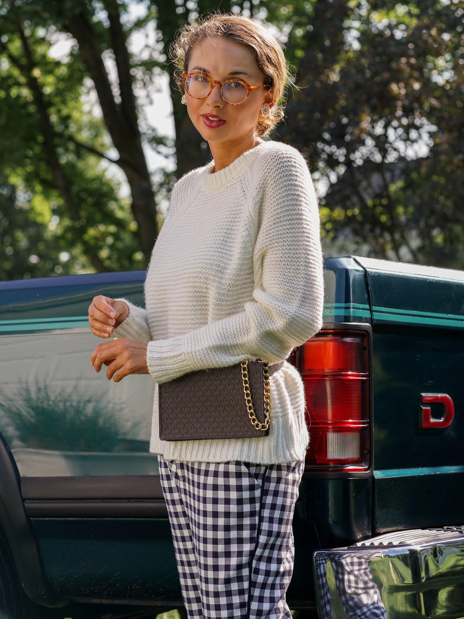 cozy woman's cream sweater