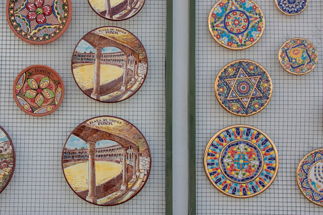 Lembrancinhas de Ronda, na Andaluzia, região sul da Espanha.