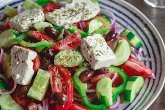 Reteta originala (traditionala) de salata greceasca - Horiatiki