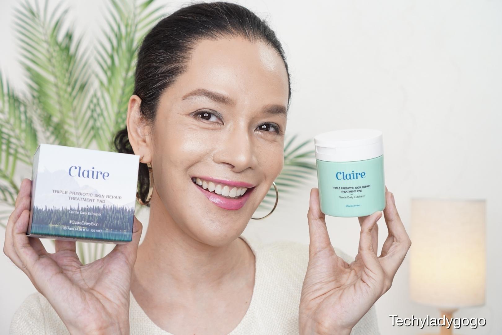 Claire Triple Prebiotic Skin Repair Treatment Pad Techyladygogo