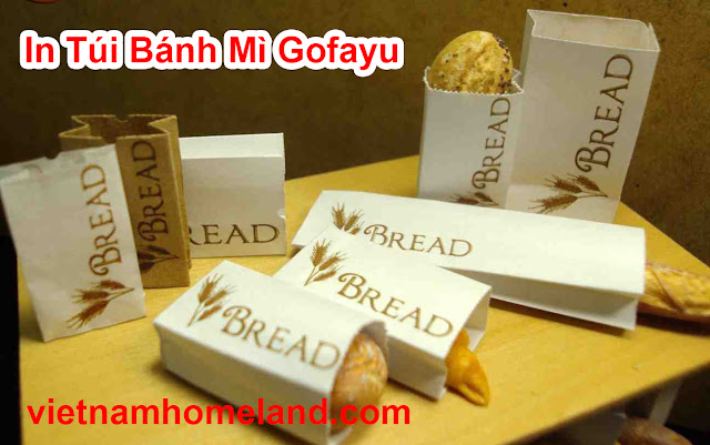 Bao bánh mì có in logo - In túi giấy đựng bánh mì