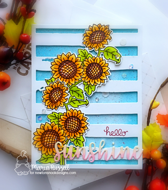 Sunflower Card by Maria Russell | Sunflower Days Stamp Set by Newton's Nook Designs #newtonsnook #handmade