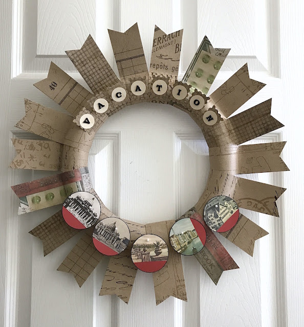 lisa fulmer paper vacation wreath