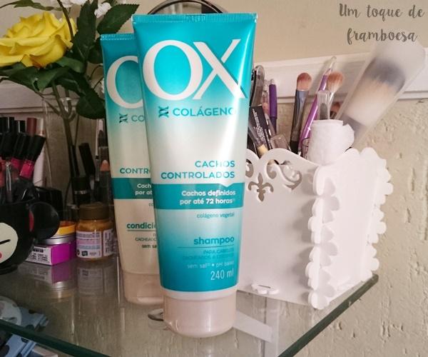 Resenha shampoo OX Colágeno Cachos Controlados