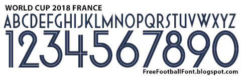 Free Football Fonts: World Cup 2018 France Nike Font
