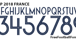 Mal músico toma una foto  Free Football Fonts: World Cup 2018 France Nike Font