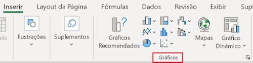 Aba Inserir do Excel