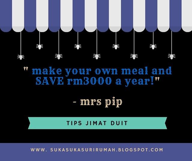 Tips jimat: Bawa bekal ke tempat kerja, boleh jimat RM3000 setahun!
