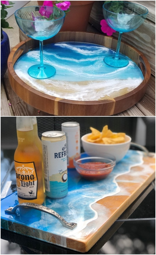 Ocean ARt Serving Trays