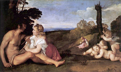 Titian: Three Ages of Man (image from Titian.org)