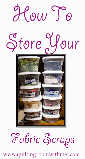 how to store fabric scraps
