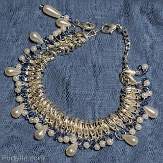 Pearl Stitch Marker Bracelet