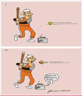 Gambar Karikatur Ramadan Lucu Olahraga Saat Buka Puasa