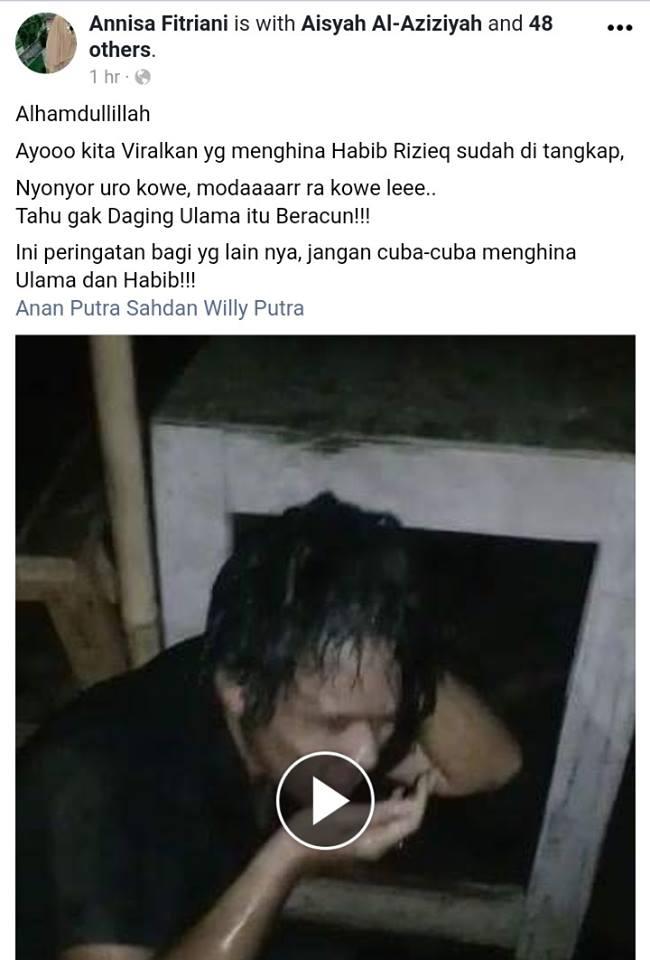 Viral!! Hina Habib Rizieq, Pria Ini Dipersekusi, Ditendang Sampai Babak Belur. Fakta Ini Bkin Miris!!