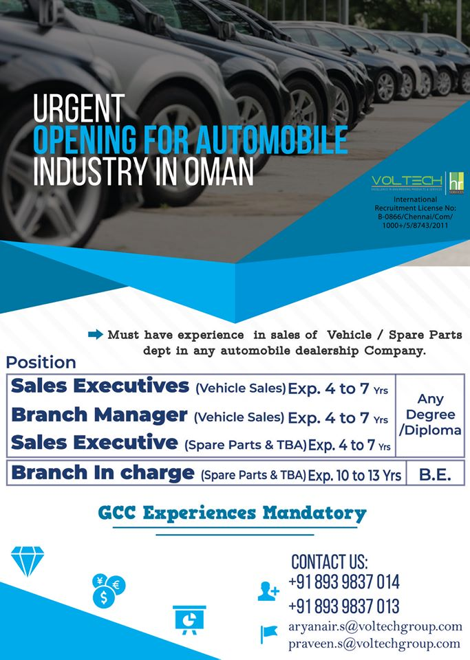 Urgent opening for automobile industry in Oman