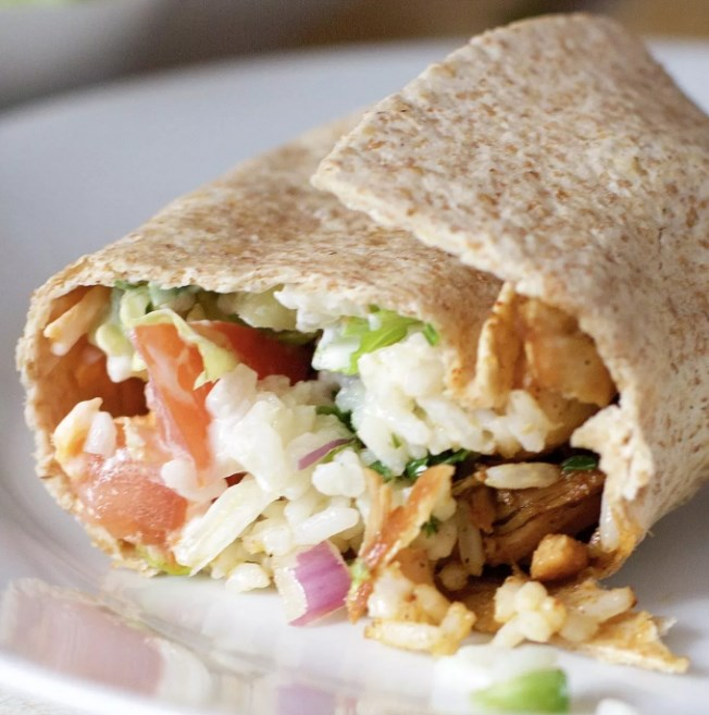 Chicken Rice And Black Bean Burritos #burritos #glutenfree