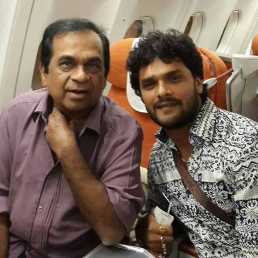 Khesari Lal Yadav and Souh Indian Actor Actor Brahmanandam ji Photos