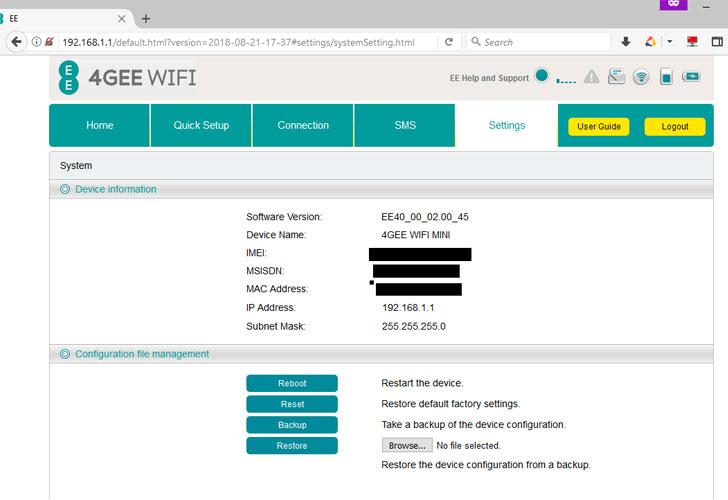 4GEE WiFi Modem