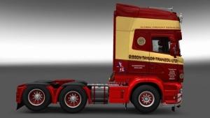 Scania RJL Gybson Taylor Tranzol skin mod