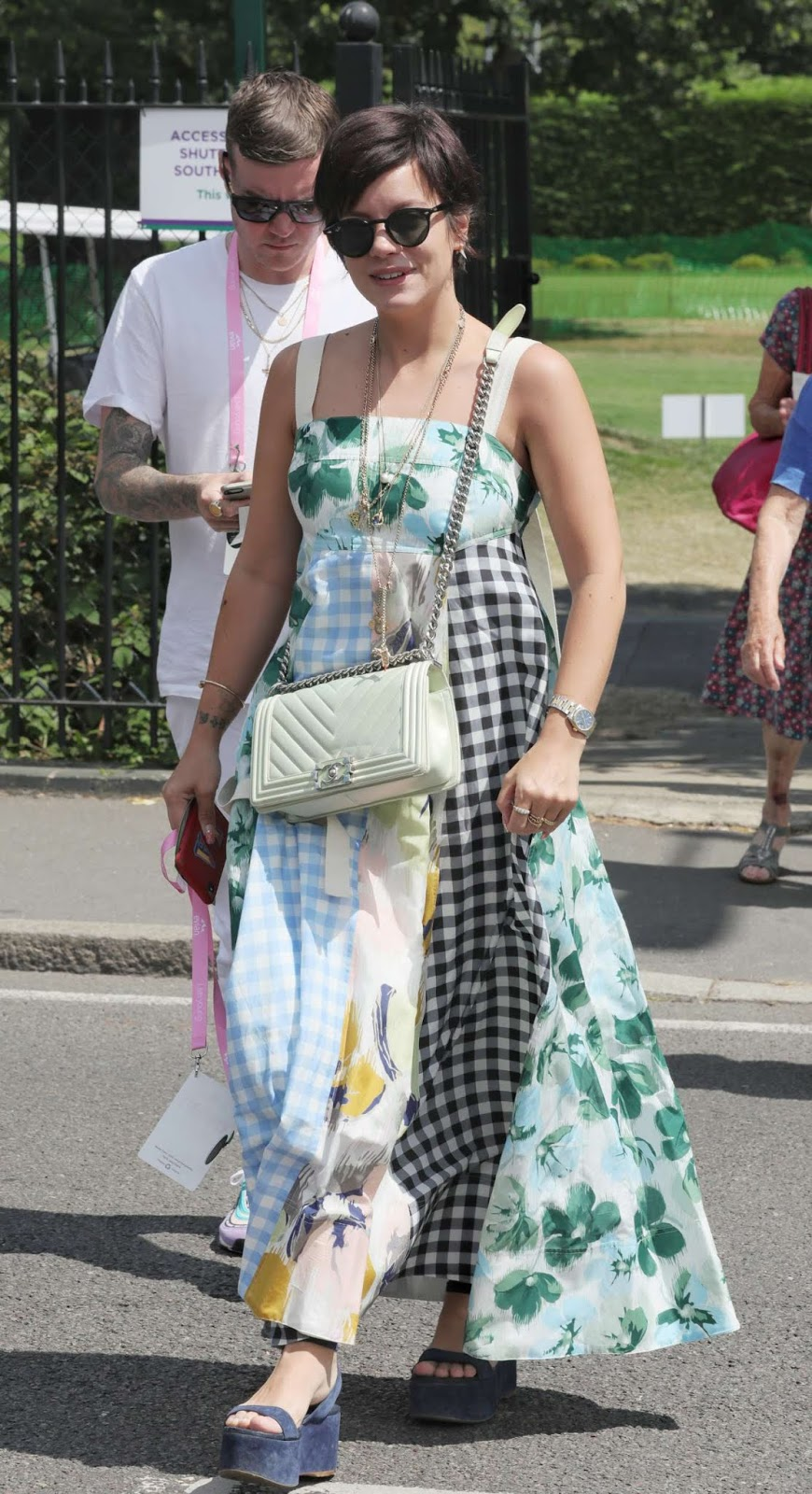 Lily Allen was all smiles as she enjoyed a day out at Wimbledon