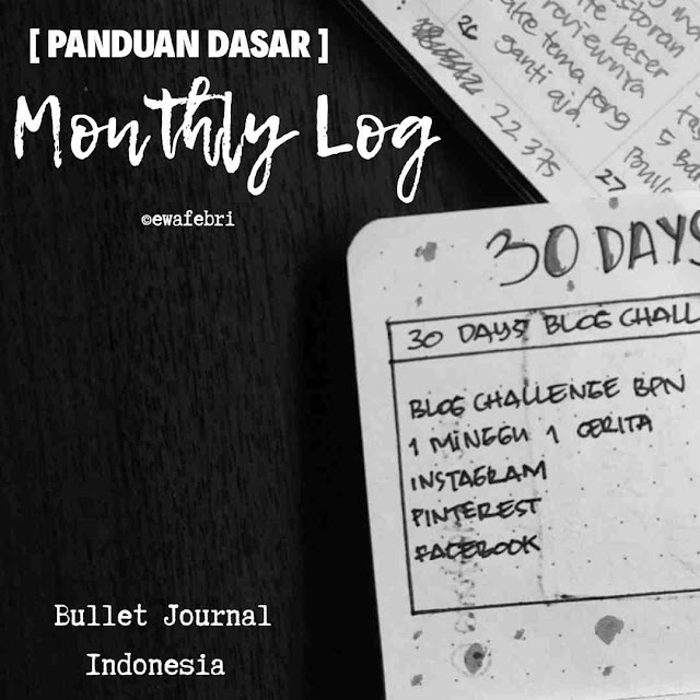 Bullet Journal Indonesia Monthly Log