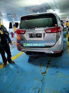Pengiriman mobil Toyota Innova dari Surabaya tujuan ke Batulicin, port to door dengan kapal roro dan driving, perkiraan perjalanan 2 hari..