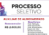 Aberto Processo Seletivo para Auxiliar de Almoxarifado. Remuneração de R$2.000,00