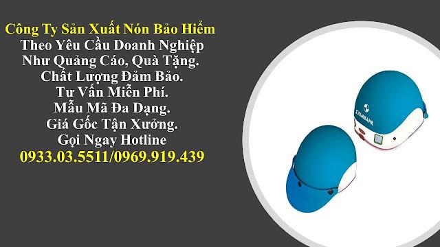 5. Sản xuất mũ bảo hiểm nửa đàu, nón bảo hiểm quà tặng, mũ bảo hiểm giá rẻ, nón bảo hiểm quảng cáo tại Đồng Nai