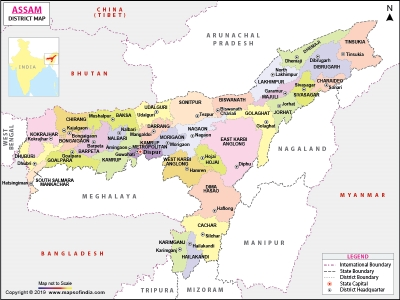 Name of Districts in Assam and Pin Code List