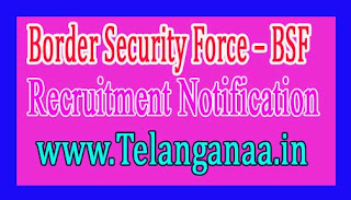 Border Security Force – BSF Recruitment  Notification 2017