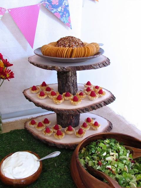 fox baby shower dessert table