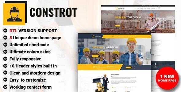 Modern Construction Joomla Template