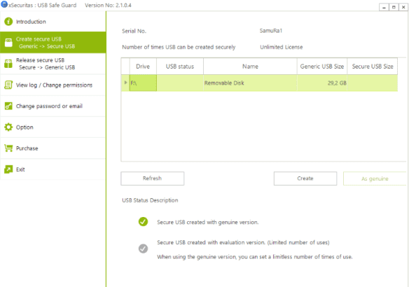 xSecuritas USB Safe Guard 2.1.0.4 - Bảo vệ USB khỏi virut