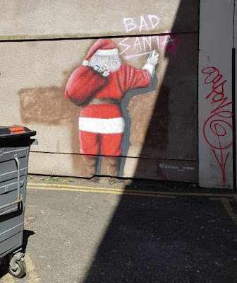 Bad Santa graffiti in Blackpool by Seca_One