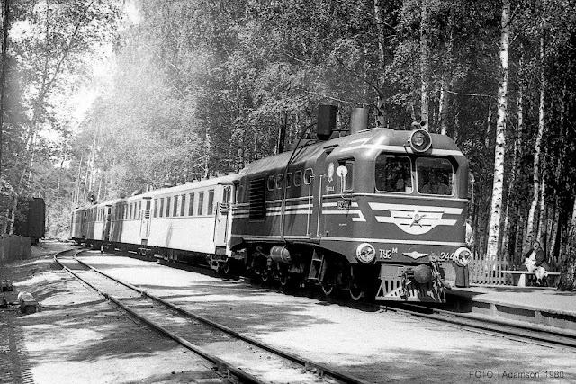 Июнь 1980 года. Рига. Межапарк. Рижская детская железная дорога
