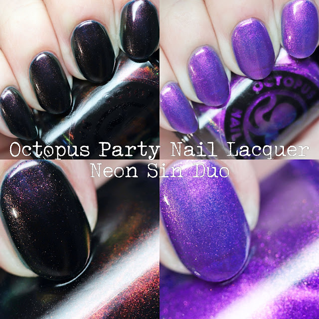 Octopus Party Nail Lacquer Neon Sin Duo