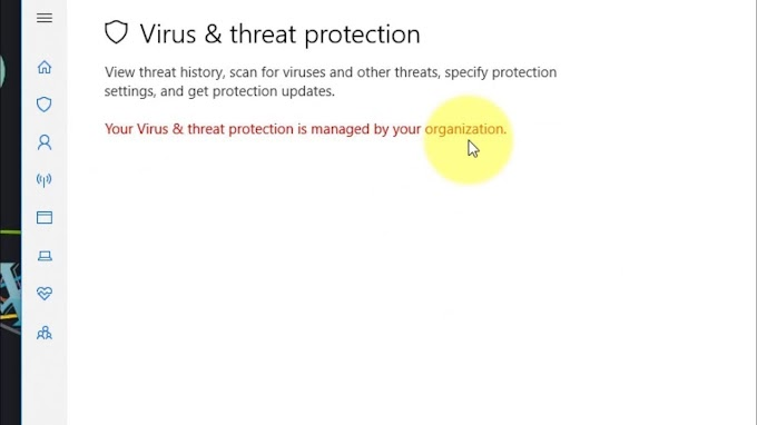 """Solved """"Your Virus & threat protection is managed by your organization"""" di Windows 10"""