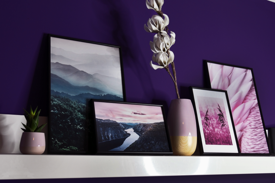 Stiledo Poster lila rosa Landschaft