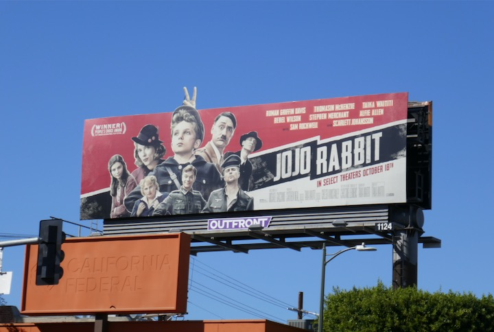 Jojo Rabbit film billboard
