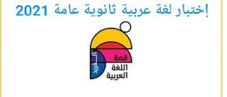 إختبار لغة عربية شامل برابط مباشر طبقاً للنظام الجديد للثانوية العامة