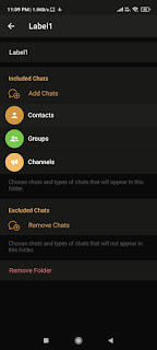 Organize Chat into Folders