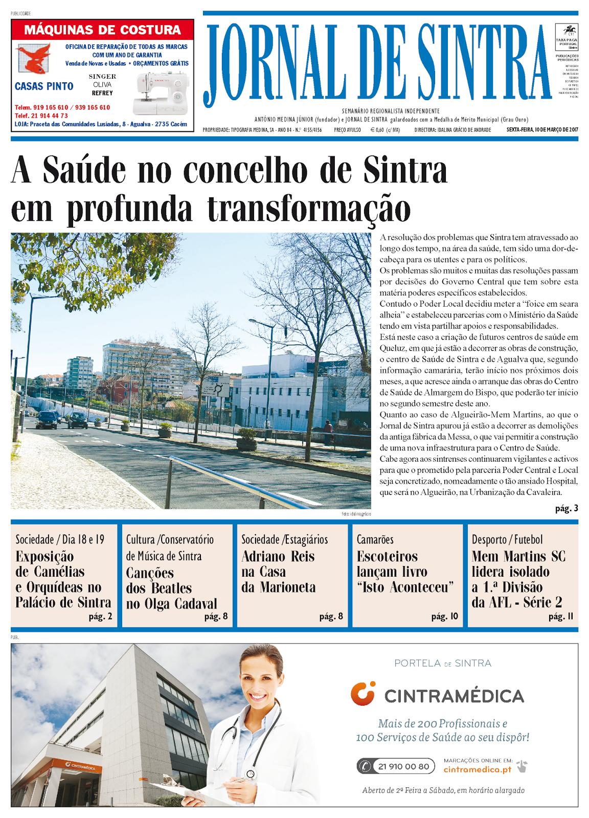 Capa da edição de 10-03-2017